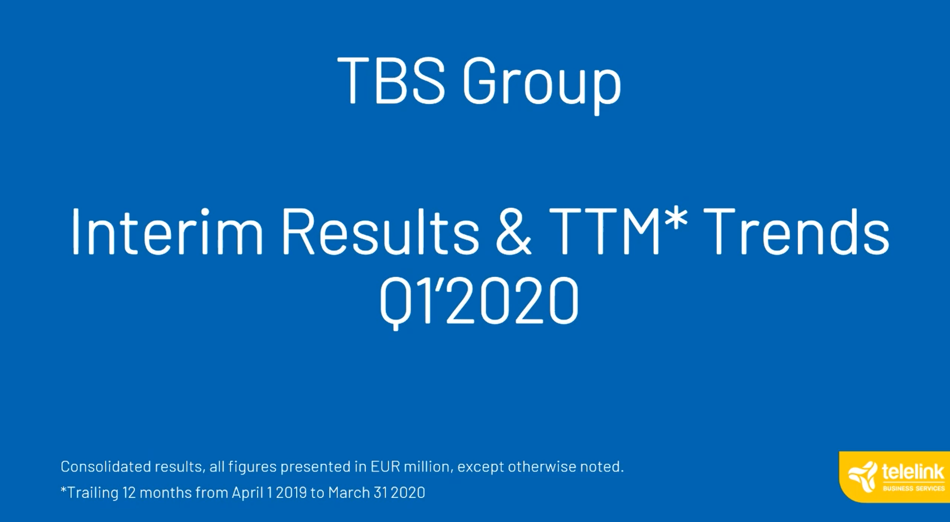 Digital Event | TBS Group: Q1 2020 Financials Overview and Investor Q&A 11.06.2020